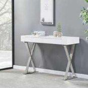 RRP £260 Boxed Mayline Console Table In White High Gloss