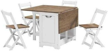 RRP £195 Boxed August Grove Southgate Folding Dining Set