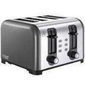 RRP £50 Each Boxed Russell Hobbs Assorted Toasted To Include Adventure 4-Slice Toaster And Oslo 4-Sl