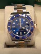 RRP £18,000 Rolex Submariner Stainless Steel & Gold Blue Dial, Blue Bezel, Model Number 116613Lb,