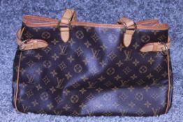 RRP £1,200 Louis Vuitton Batignolles Horizontal Shoulder Bag, Brown Monogram Canvas, Vachetta