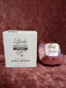 RRP £80 Boxed Paco Rabanne Lady Million Empire 80Ml Tester Eau De Parfums