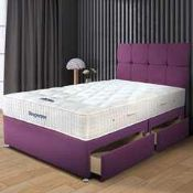 RRP £1550 Ex Showroom Sleepeezee Plum Divan Bed Base Wit