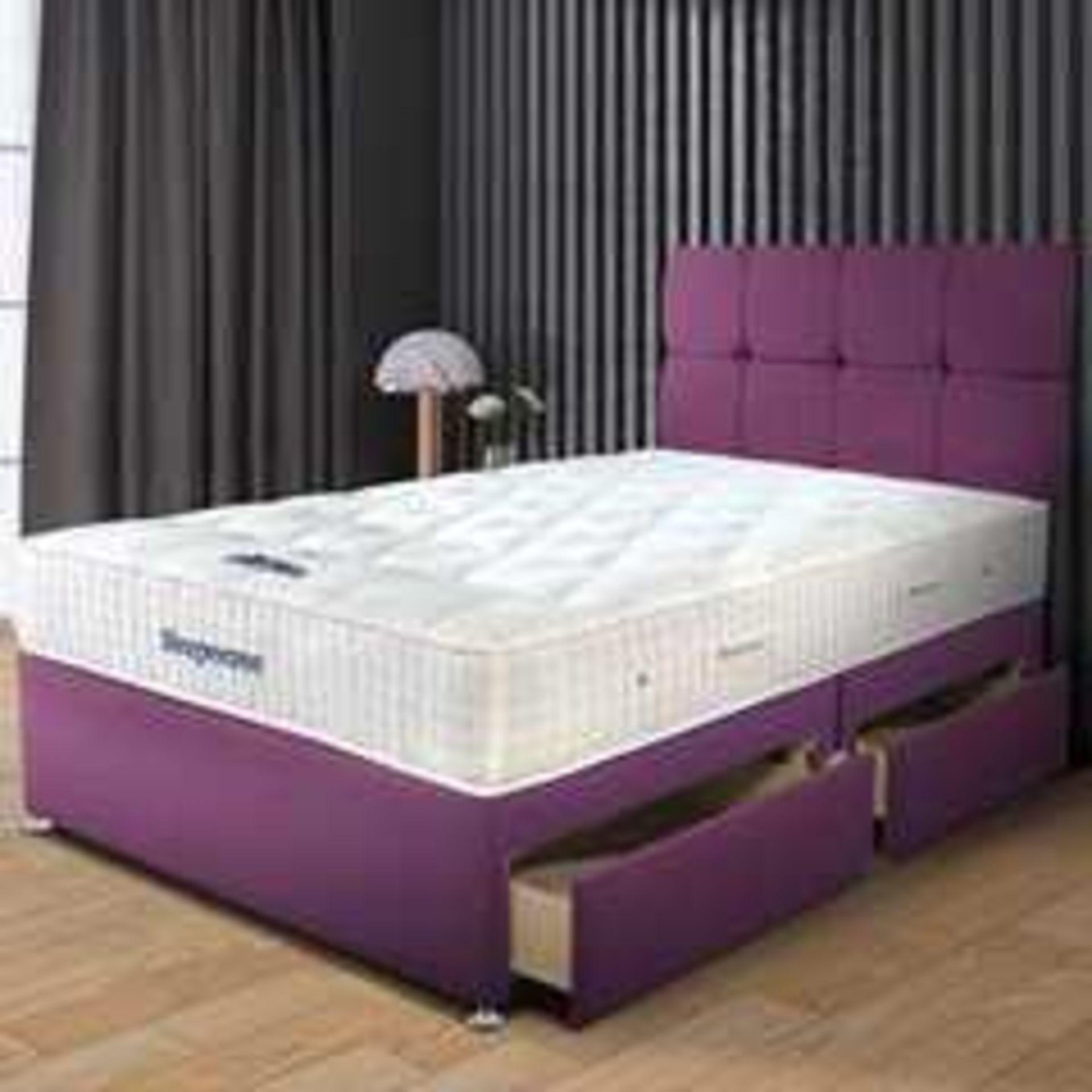 RRP £1550 Ex Showroom Sleepeezee Plum Divan Bed Base Wit