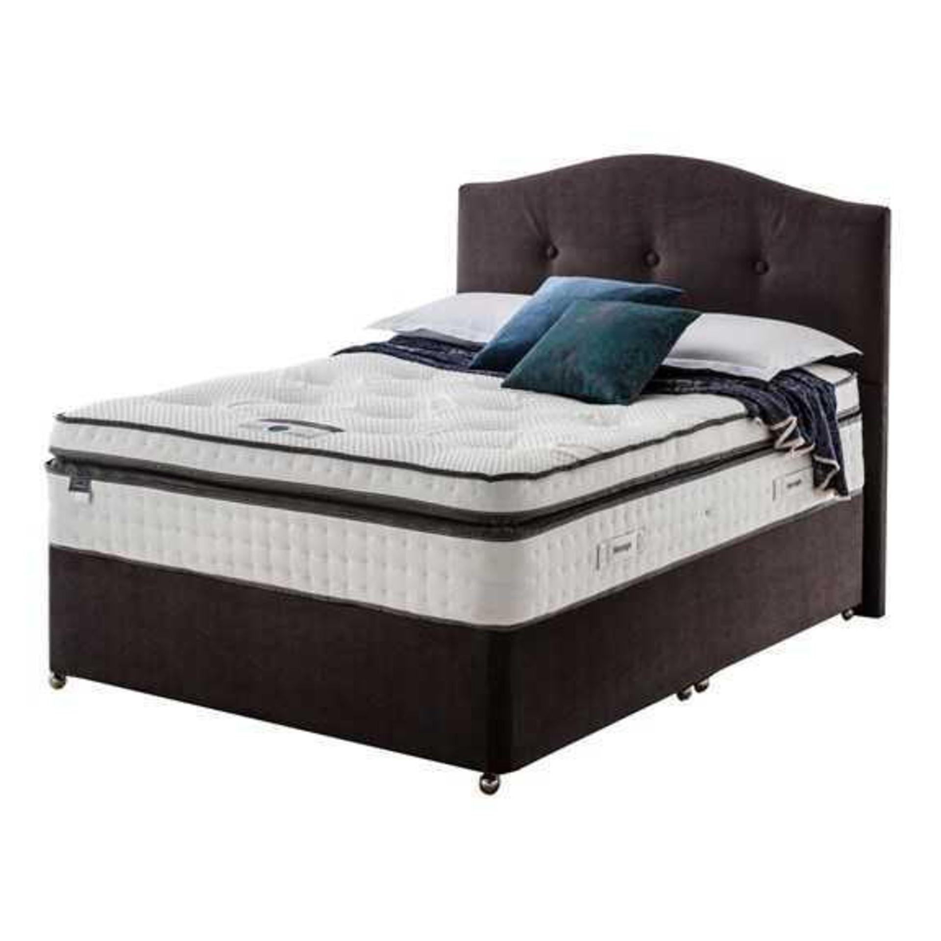 RRP £1850 Ex Showroom Bark Silent Night Pocket Geltex Melody Divan Bed