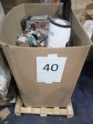 Pallet To Contain Various Assorted Items Including Gardening Gloves Tower Fan Heater Vacuum Cleaner