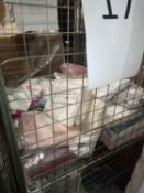 Cage To Contain An Assortment Of Soft Furnishing Items To Include Duvet Set, Fitted Sheets And Throw