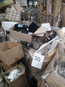 Pallets To Contain A Large Assortment Of Of Debenhams Items To Include Coffee Machines Fans Hoovers