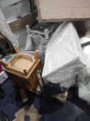 Pallet To Contain Assorted Furniture To Include Chest Of Drawers, Bedside Tables