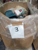 Pallet To Contain Boxed And Unboxed Debenhams Items Such As Lamp Shades Designer Kettles, Fans, Wax