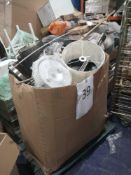 Pallet To Include Assorted John Lewis Homeware Items To Contain Assorted Lighting Items Bins And Ele