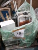 Pallet To Contain Assorted Furniture To Include Chairs, Tables And Chest Of Drawers