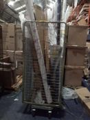 Cage To Contain A Large Assortment Of John Lewis Blinds And Roller Blinds
