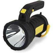RRP £220 Lot To Contain 12 Boxed Aa Car Essentials Rechargeable Led Spotlight With Pistol Grip Handl
