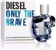 RRP £50 Unboxed 75Ml Bottle Of Diesel Only The Brave Edt Spray Ex-Display