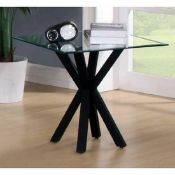 RRP £120. Chrome And Tempered Glass Lamp Table