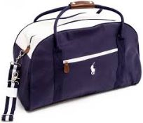 RRP £100 Ralph Lauren Large Dark Navy Blue With White trim, Holdall, Gym, Travel, Weekend, Duffle Le