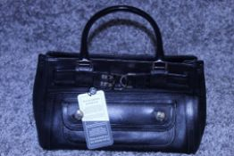 RRP £1300 Dior Interlocking D Belt Handbag In Black Calf Leather With Black Leather Handles. (