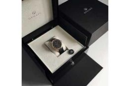 RRP £300. Boxed Ornake Miyota Movement Luxury Timepiece Silver And Black Watch (Upmarket Large