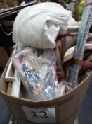 Pallet To Contain Various Textile Items Including A Wedding Dress, Curtains And More