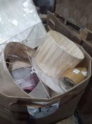 Pallet To Contain A Box Of Light Shades In Various Sizes And Colours.