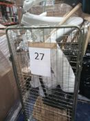 Cage To Contain Assorted Designer Dining Room Chairs, Leather, Chrome, Wooden And Plastic Variants.