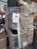Pallet To Contain Assorted Household Items Including A Range Of Canvases, A Backpack And More.