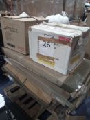 Pallet To Contain Various Assorted Flatpack Furniture In Part Lots.