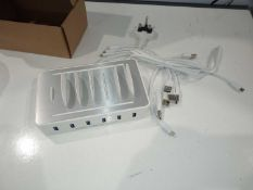 RRP £120 A Lot To Contain 3 Boxed Brand New 6-Port Usb Charging Stations