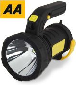 RRP £220 Lot To Contain 12 Boxed Aa Car Essential Rechargeable Led Spotlight With Pistol Grip Handle