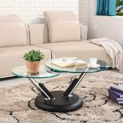 RRP £200. Boxed Glass Top Stylish Tokyo Coffee Table