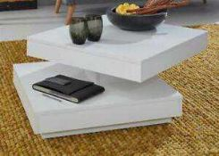 RRP £120. White 2 Tier Coffee Table