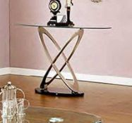 RRP £350. Boxed Picaaso 8Mm Tempered Glass Console Table