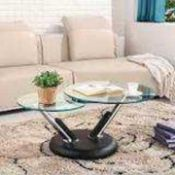 RRP £320 Boxed Tokyo Rotating Coffee Table In Black