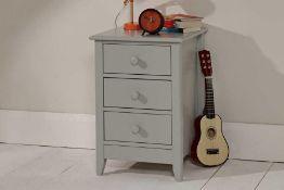 RRP £130. Light Grey Jubilee 3 Drawer Bedside Table