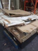 Pallet To Contain A Number Of Assorted Flatpack Items In Part Lots And Display Cabinet With Glass Do