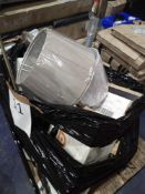 Pallet To Contain Assorted Household Items Such As John Lewis Lamp Shades, Russell Hobbs Essentials,