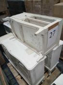 Pallet To Contain Assorted Furniture In White/Cream Including Storage Cabinets And Tv Cabinet.
