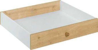 RRP £50. Boxed Halstead Desk Drawer Oak Finish. 115Cm X 57Cm
