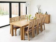 RRP £500. Boxed Claremont Natural Extending Dining Table