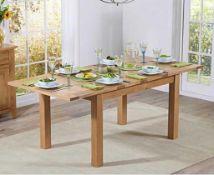 RRP £400. Boxed Pavilion Mid Oak Extending Dining Table