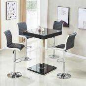 RRP £190. Topaz Bar Table Black High Gloss