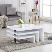 RRP £200. Boxed Design Coffee Table In White