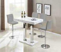 RRP £300. Boxed Vida Table In Glossy Marble Effect