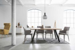 RRP £300. Boxed Marburg Dining Table