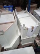 4 Tv Units With Storage In White/Cream