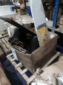 Assorted Household Furniture Including Ironing Board, Mirror, Wine Rack And More