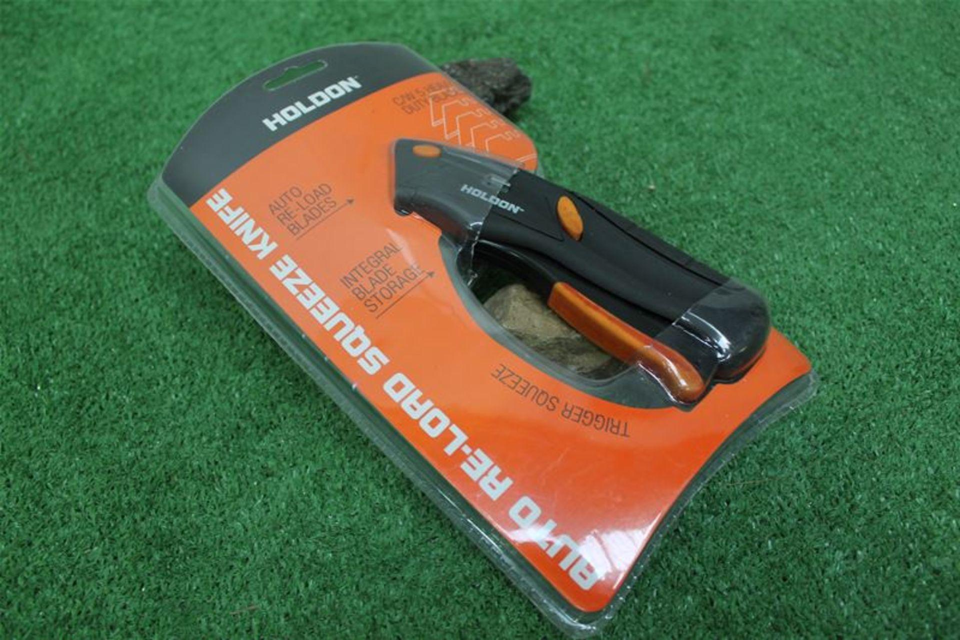 Los 60 - 10 x Holdon Heavy Duty Auto Load Squeeze Knife