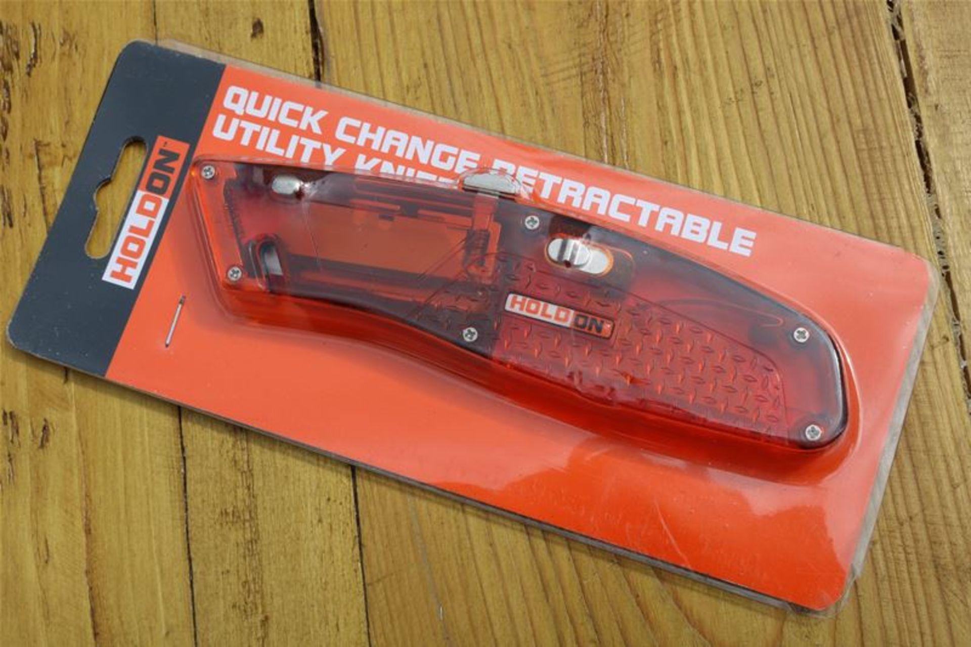 Los 79 - 10 x Holdon Transparent Retractacle Knife
