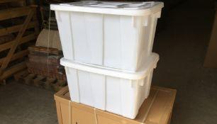 5 X BIG 125L NEW STORAGE BOXES WITH LIDS